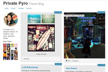 Pyro's Bootstrap Tumblr Theme